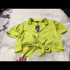 Dolls Kill Chartreuse Green Crop Top